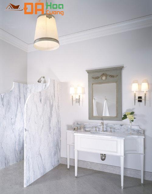 nhà tắm đá trắng volakas