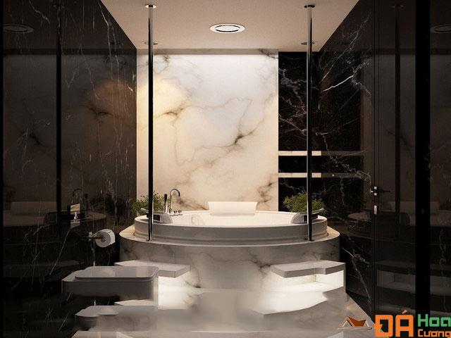 phòng tắm đá đen tia chớp