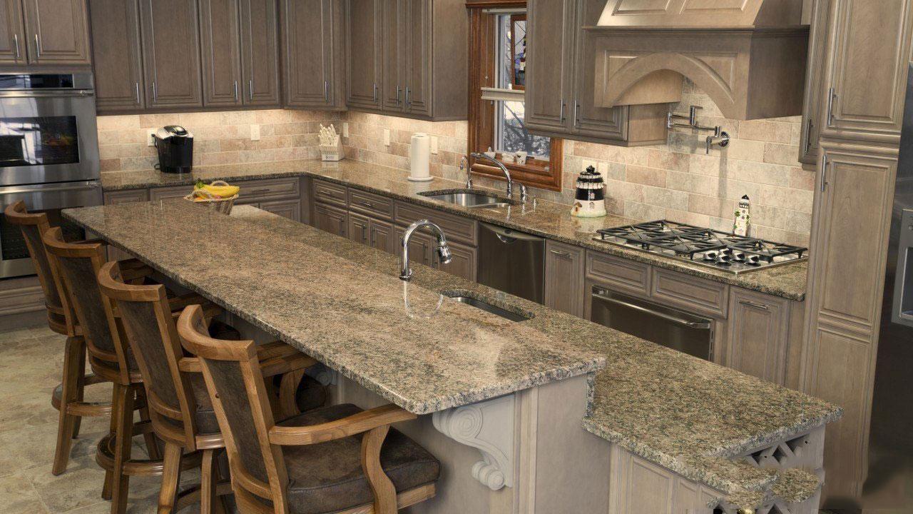 Bàn bếp đá granite xám
