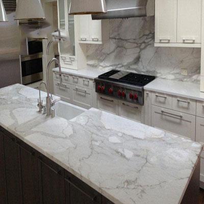 Bàn bếp đá Marble Carrara