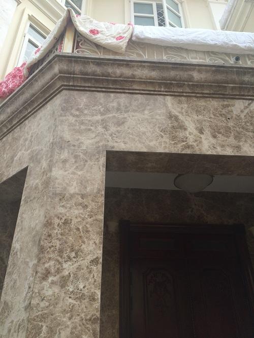 Mặt tiền nhà ốp đá hoa cương marble