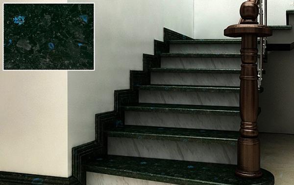 Đá ốp cầu thang màu đenĐá ốp cầu thang màu đen