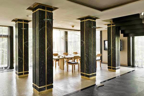 Cột nhà hình vuông đá Marble