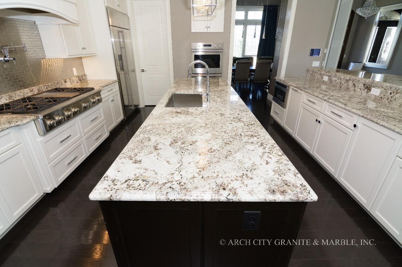 Bàn đá Granite trắng