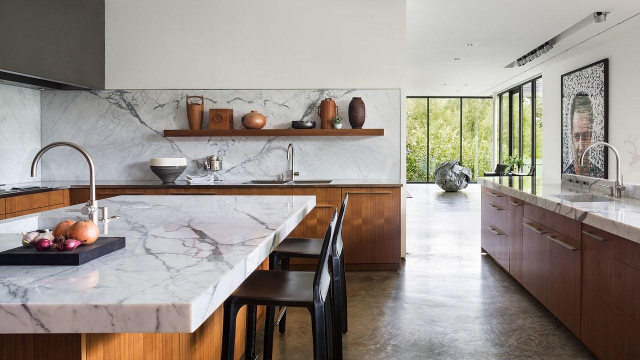 Đá granite trắng làm bàn bếp