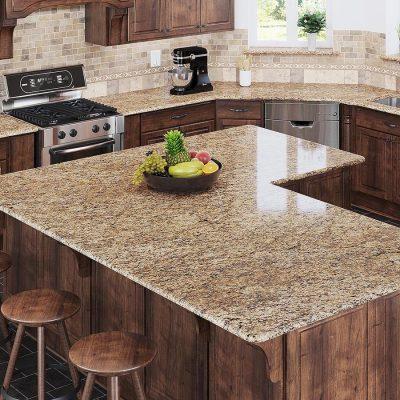giá đá Granite làm bàn bếp vàng Da Báo