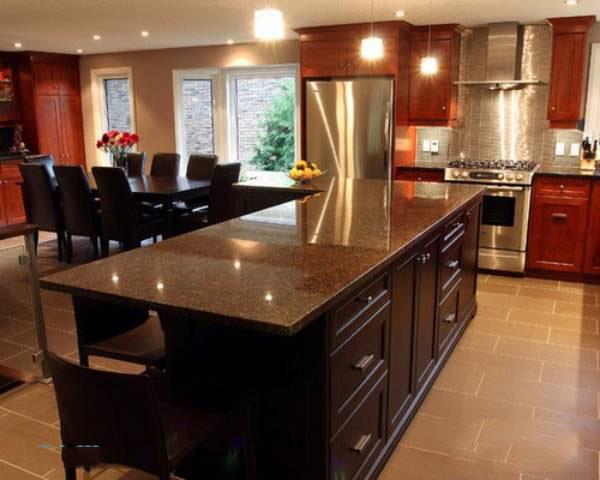 giá đá granite làm mặt bếp Nâu Anh Quốc