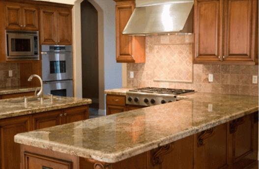 giá đá Granite làm bàn bếp nâu Cafe