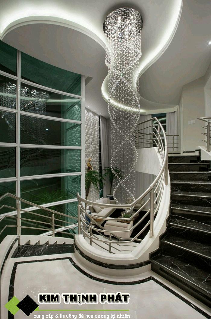 công trình đá marble đen tia chớp
