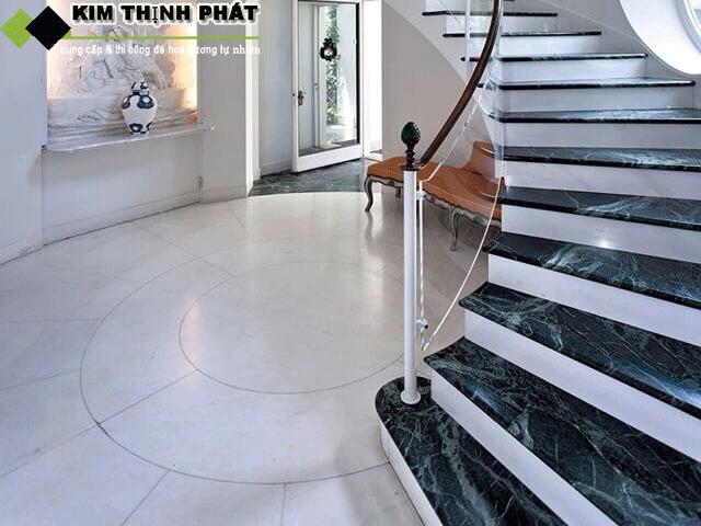 công trình làm đá marble xanh napoli